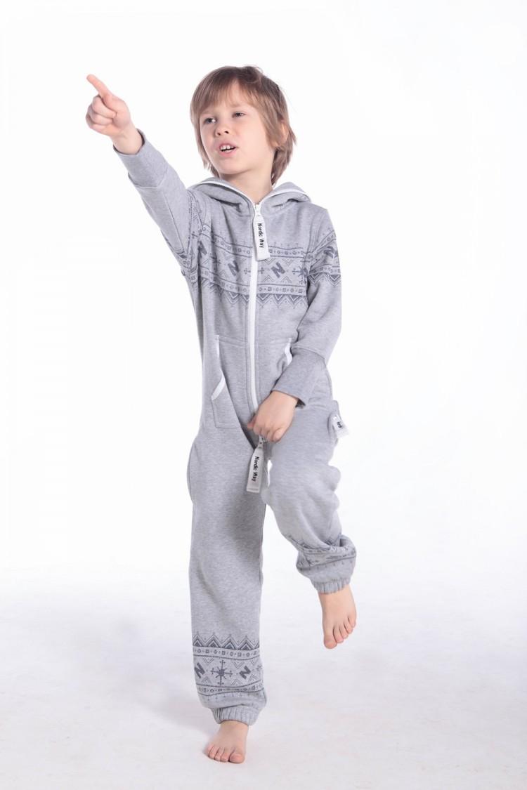КУПИТЬ · Детский хлопковый серый комбинезон с рисунком d5920b87040d0