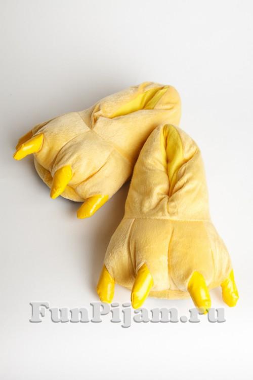 Тапочки-лапки желтые d3cbd34ff8f45