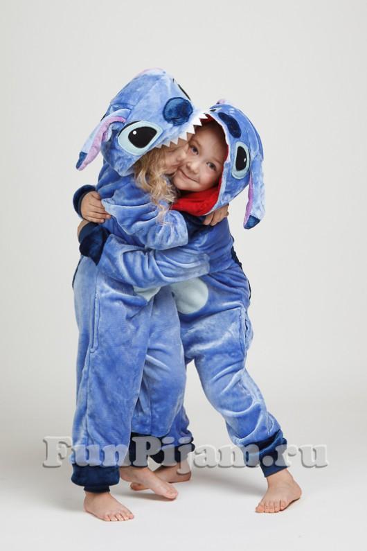Пижама кигуруми детская голубая