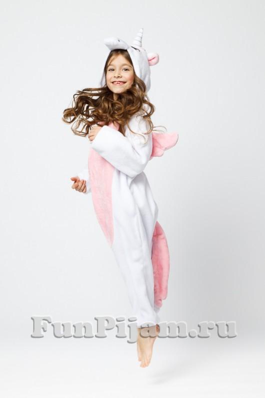 Пижама кигуруми детская Розовый Единорог 557f7762412f7