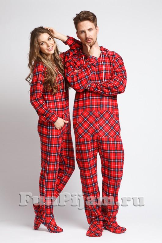 4a4370ebab5fc Купить красную пижаму, пижама-комбинезон с ногами