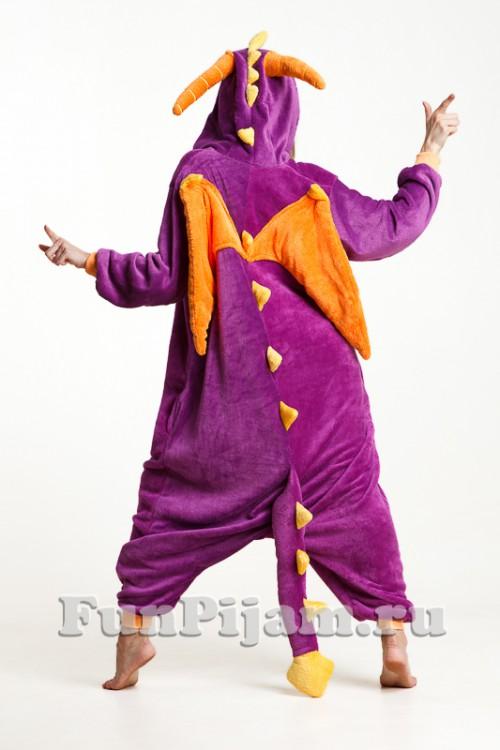 Кигуруми Фиолетовый дракон 7db57422bde48