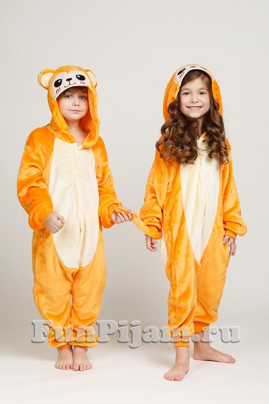 Детская пижама кигуруми Огненная обезьянка 7353a1918f590