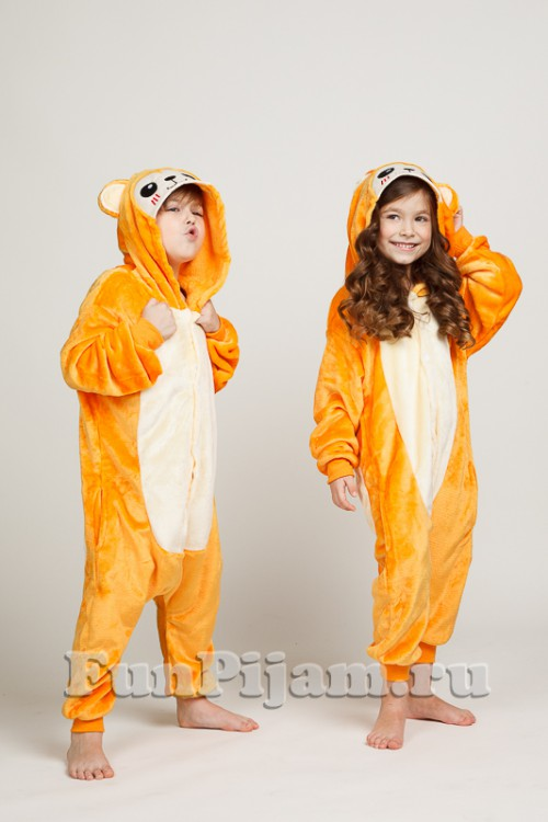 Детская пижама кигуруми Огненная обезьянка 7427e91678f2f