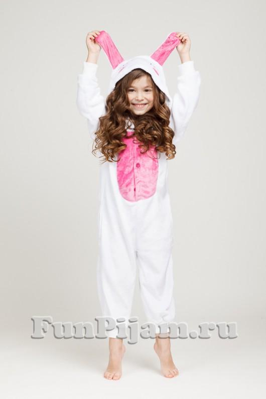Детская пижама кигуруми Влюбленный кролик 4c45a96df7d30