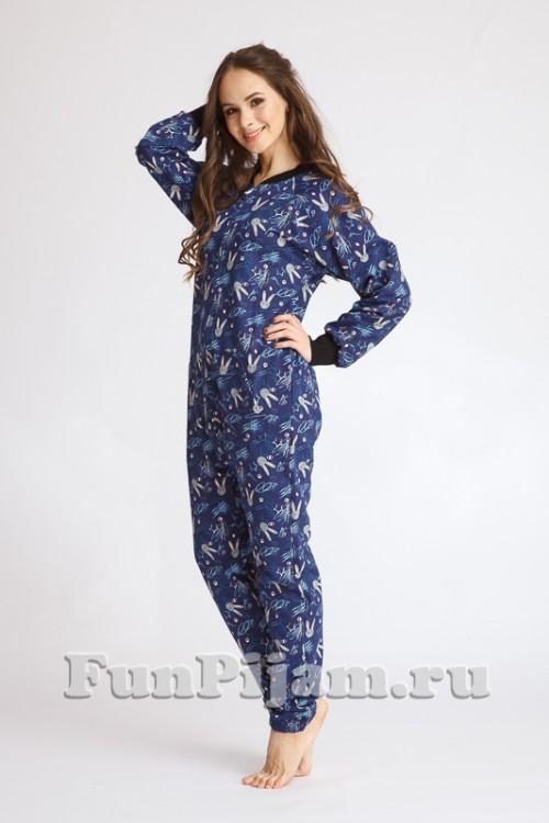 Хлопковая пижама комбинезон Funny Bunny 0a2c4e887e444